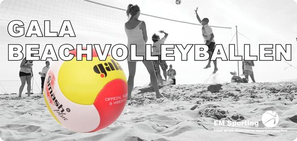 Gala beachvolleyballen