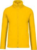 Fleecevest met rits geel