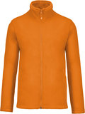 Fleecevest met rits oranje