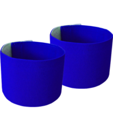 Scheenbeschermer houders - blauw