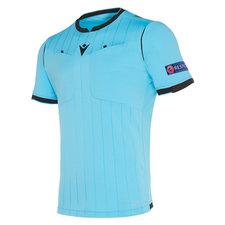 Macron UEFA heren scheidsrechtersshirt 2020 - neon blauw