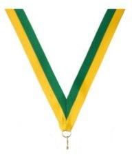 Neklint medaille groen/geel