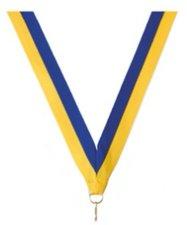 Neklint medaille blauw/geel