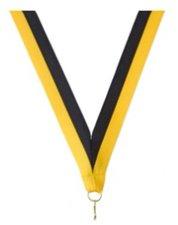 Neklint medaille geel/zwart