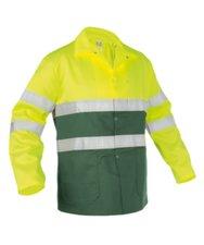 Werkjas Lins groen/geel