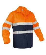 Werkjas Lins navy/oranje