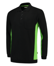 Polosweater Tricorp TS2000 zwart/lime
