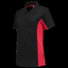 Poloshirt  dames Tricorp 202003 zwart/rood