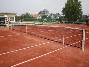 Tennisnet geknoopt