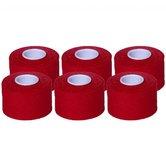Cawila Sporttape PREMIUM 6er | 3,8cm x 10m | rood