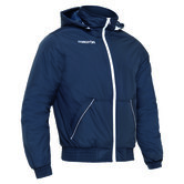 Macron Moscow winter bomber navy