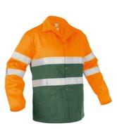 Werkjas Lins groen oranje 1