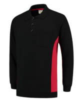 Polosweater Tricorp TS2000 zwart rood 5